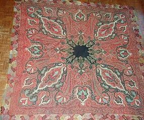 Antique Embroidered Kashmir Shawl - Exceptionally Fine