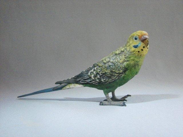 Cold Painted Austria BERGMAN Bronze Budgie/Parakeet