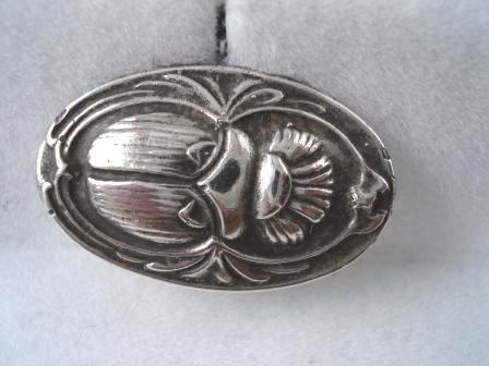 Silver Scarab Cuff Links