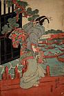 Japanese Edo Woodblock Print Keisai Eisen Beauty Bijin