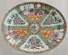 "16"" Chinese Qing Export Rose Medallion Platter"