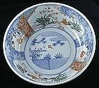 Large Japanese Meiji Period Imari Porcelain Bowl 19c