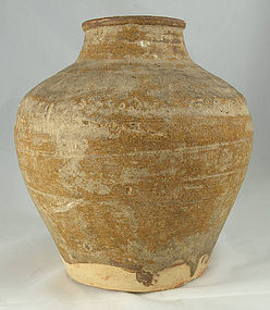 Chinese Tang Dynasty Amber Glazed Stoneware Wine Jar