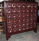Large 42-drawer Chinese Qing Elm Wood Apothecary Chest