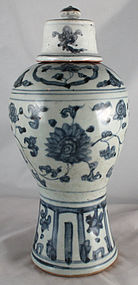 ANTIQUE CHINESE BLUE WHITE PORCELAIN VASE URN LID | eBay