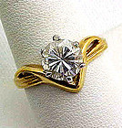 CZ Solitaire Ring - Looks Real