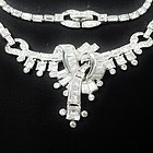 Mazer Bros Clear Rhinestone Necklace and Bracelet
