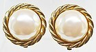 Carolee New Old Stock Faux Pearl Earrings