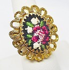 Hobe Unusual Needlepoint Ring