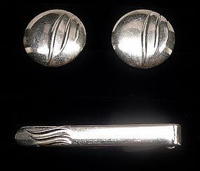 1950s Swank Tie Clip and Cuff Links
