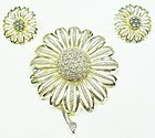 Sarah Coventry Sunflower Pin and Earrings