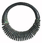 Huge Dong Son Culture Bronze Spiral Necklace