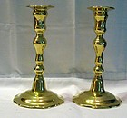Georgian Brass Candlesticks