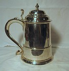 American Silver Tankard; James Woolley