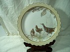 Doulton Burslem Three Bird Cabinet Plate 1888