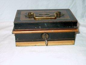 Victorian Toleware Change Box; c. 1890