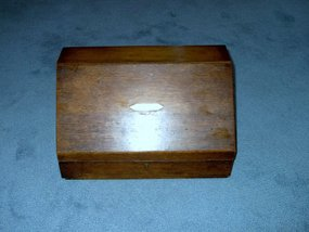Victorian Oak Slant Front Stationary or File Box