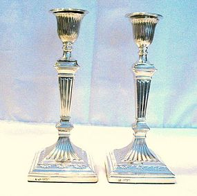 Victorian English Sterling Silver Candlesticks