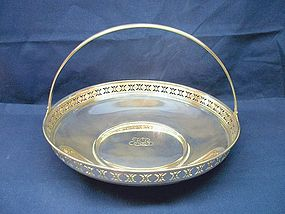 Tiffany Sterling Silver BonBon Basket with Handle