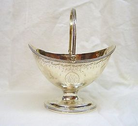 Georgian Silver Sugar Basket or Sweetmeat Basket