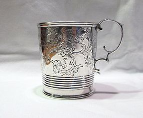 Obadiah Rich Coin Silver Mug Important and Historic