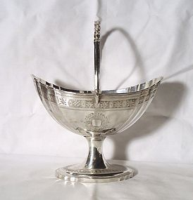 Georgian Irish Silver Large Sugar Basket