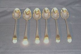 Matched Set of Six Georgian Silver Dessert Spoons; 1772