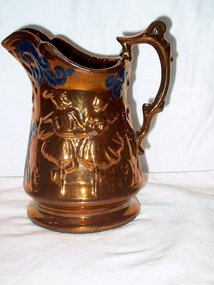 Early Victorian Copper Lustre Pitcher