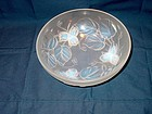 French Crystal Center or Fruit Bowl Signed Etling