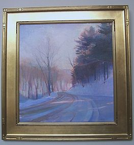 Brian Sweetland; Country Road in Winter