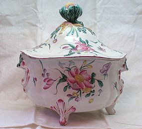 French Faience Soup Tureen