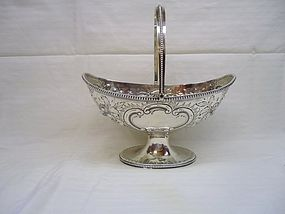 Large Georgian Silver Sugar Basket 1785