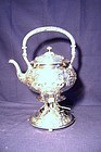 Gorham Sterling Silver Tea Kettle on Warming Stand 1905