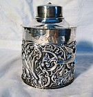 English Victorian Silver Tea Caddy