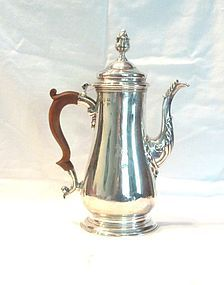 George II Sterling Silver Coffee Pot 1753