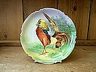 Limoges Game Bird Plaque