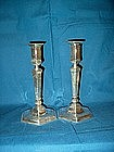 Tiffany Sterling Silver Art Deco Candlesticks