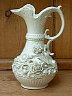 Belleek (Irish) Ewer; Applied Flowers
