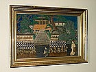 Oriental Diorama of a Village Scene