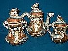 Satsuma Tea Set; Mejii Period