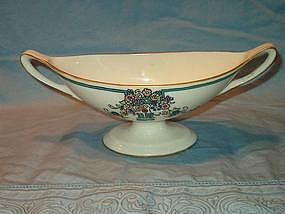 Lenox Belleek Two-Handled Enameled Dish