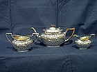 George V Silver Bachelors Tea Set