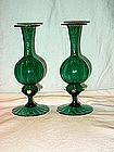Pair of Venetian Glass Vases