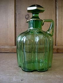 Victorian Green Glass Decanter