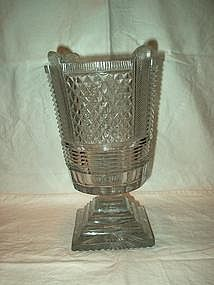 Heavy English Crystal Celery Vase