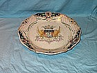 French Faience Armorial Plate