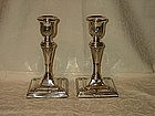 Edwardian English Sterling Silver Candlesticks