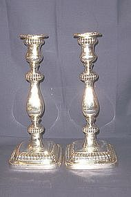 Gorham Sterling Silver Candlesticks in Georgian Style