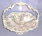 Large Victorian Silver Plate Bride's or Cake Basket