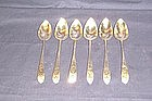 Irish Silver Teaspoons-Assembled Set of 6; 1794-1804